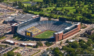 Michigan Stadium aerial view, Ann Arbor Michigan by Proshooter