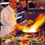 Chef at Wok Station of Casino Buffet by Proshooter